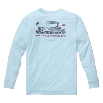 Old Man River: Sky Blue Long Sleeve